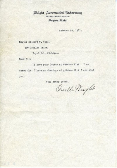 Letters from the Wright Brothers