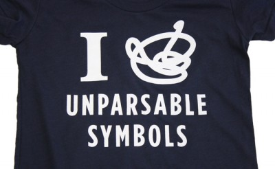 "New shirt! ""Unparsable Symbols"""