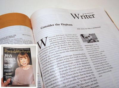 My magazine article about bookstores