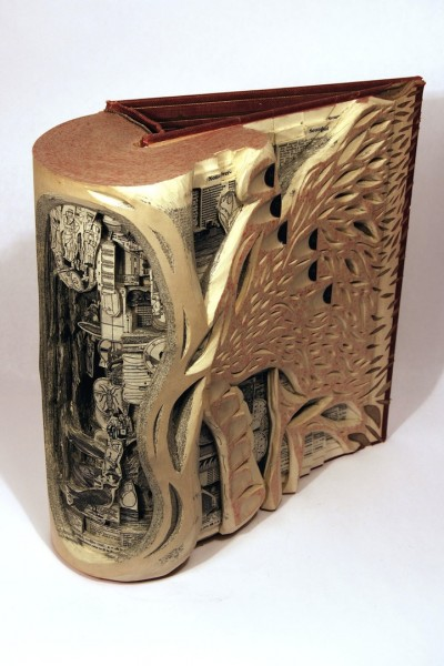 Check out: Surgical book sculptures