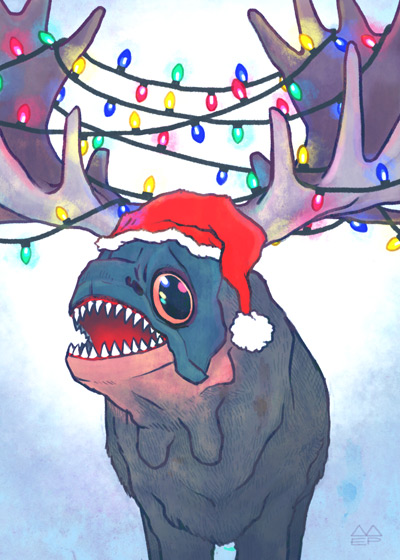 Free Piranhamoose Holiday Card Download!