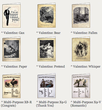 Wondermark Valentine cards!