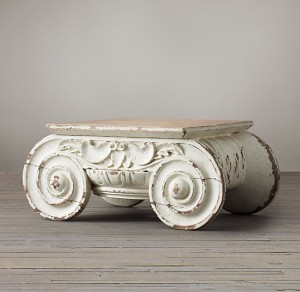 Simple DISTRESSED IONIC CAPITAL COFFEE TABLE