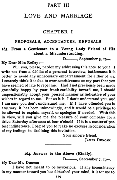 Wondermark archive true stuff the art of letter writing the very first example from a gentleman to a young lady friend of his about a misunderstanding is followed by three possible answers one kindly spiritdancerdesigns Gallery