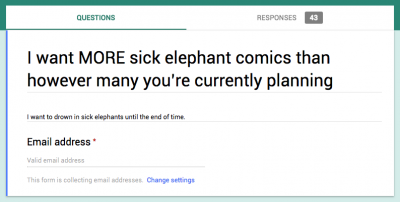 Sick Elephant Notification Forms