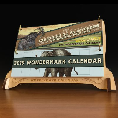 First look at the 2019 Calendar + sick elephant book! New greeting cards too.