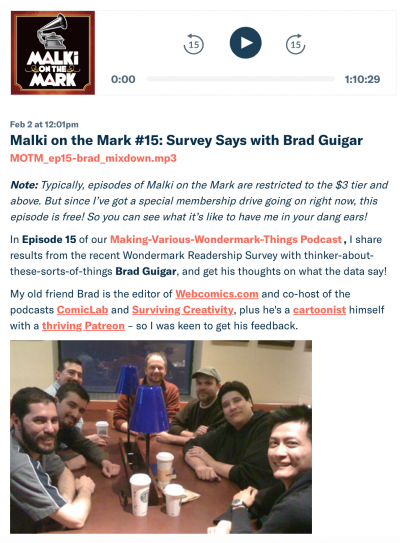 Talkin' shop with podcast guest Brad Guigar