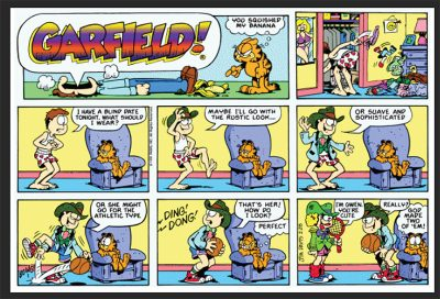 On the bonkers color palette of Garfield comics
